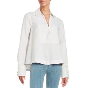 Free people linen blend tunic top from anthro